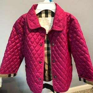 Burberry Quilted Hot Pink Jacket